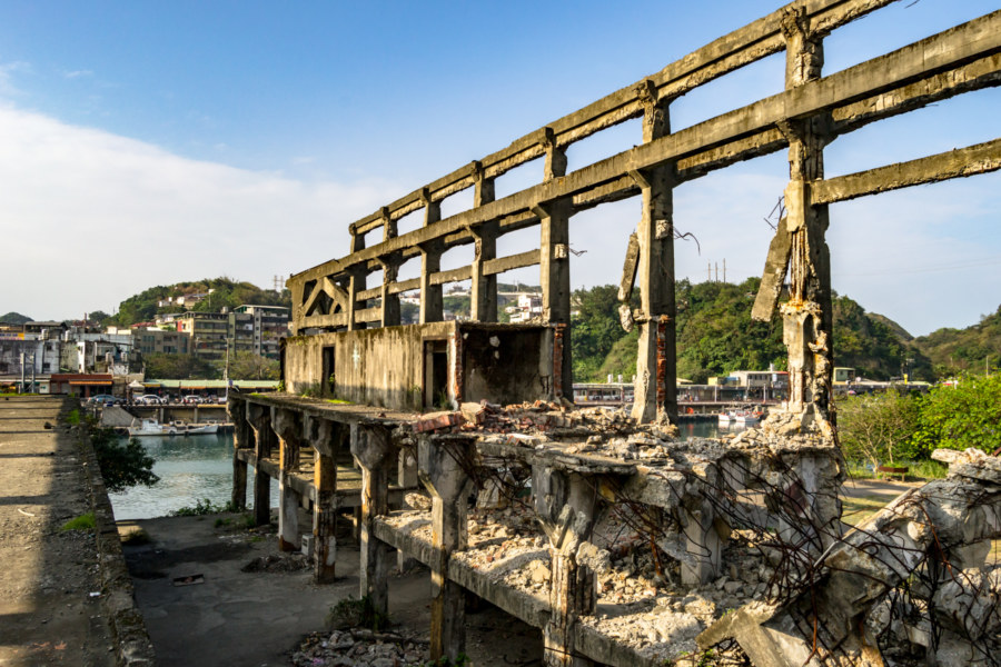 Partly Demolished at Agenna Shipyard