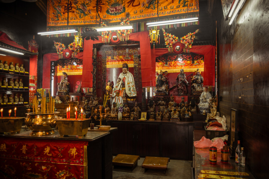One of the altars at the Tin Hau Temple Complex in Yau Ma Tei