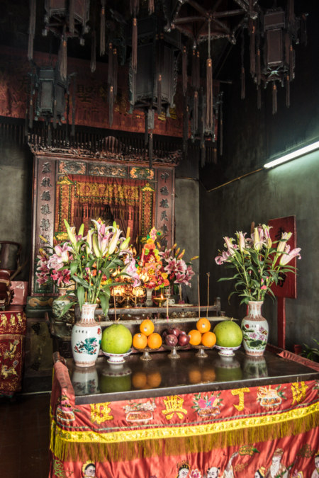 Inside the historic temple in Nga Tsin Wai Village 衙前圍村