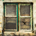 Vintage window in an alleyway in Yuen Long.