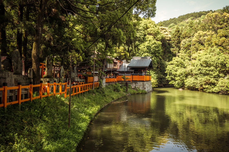 The picturesque lake at Fushimi Inari Taisha