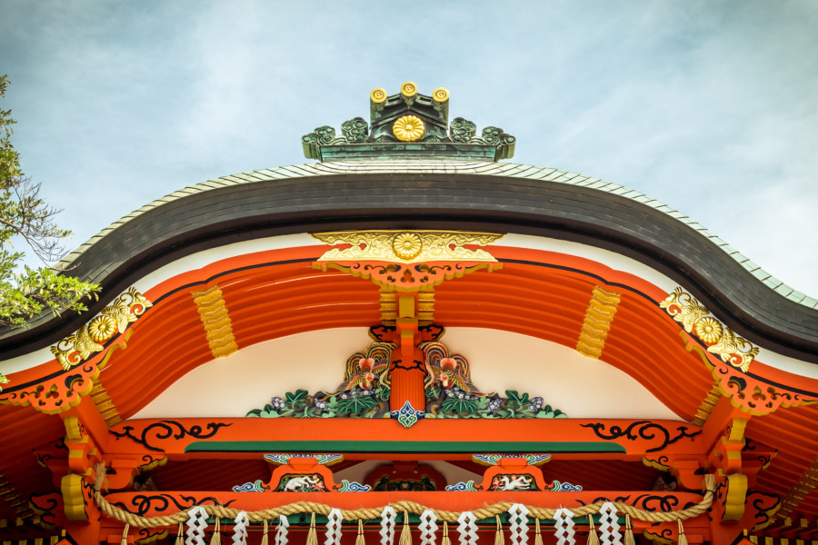 Ornate details at Fushimi Inari Taisha