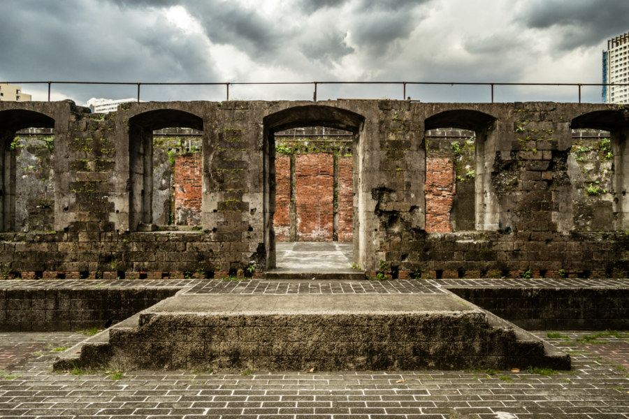 The ruins of an old theater at Fort Santiago