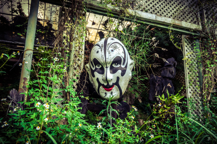 An apparition in the abandoned theme park
