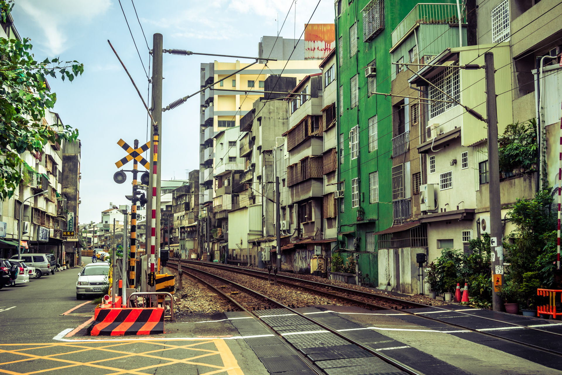 The right side of the tracks in Tainan