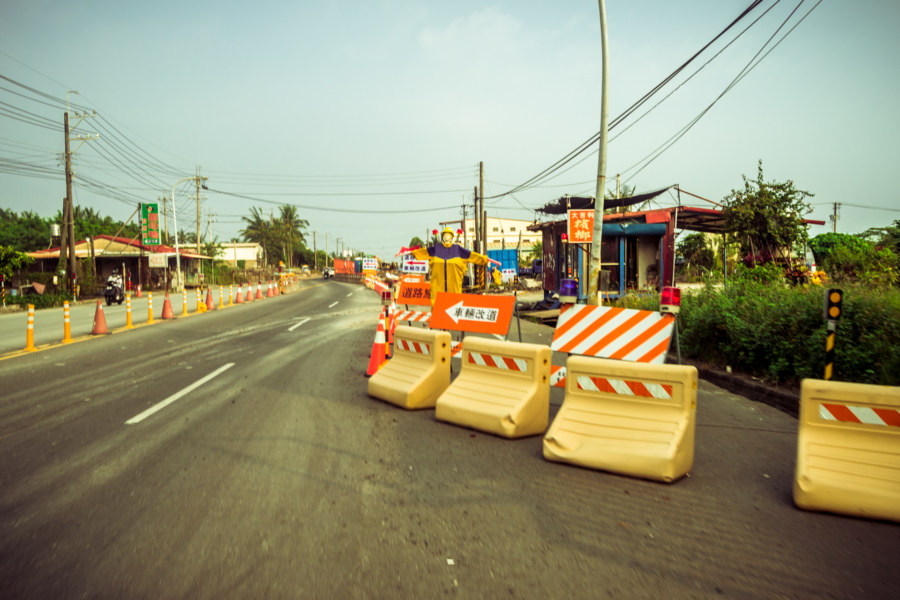 Road work on the way to Kenting