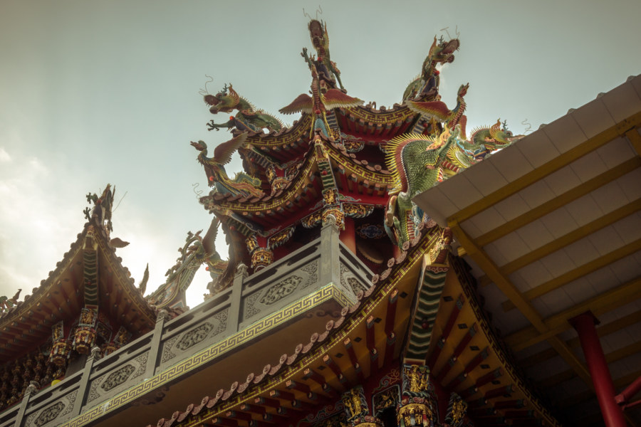 Dragons on a Liuqiu temple