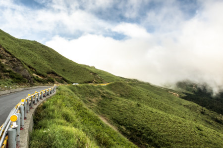 Entering the alpine highlands of central Taiwan