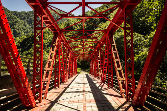 An old bridge in Taroko Gorge