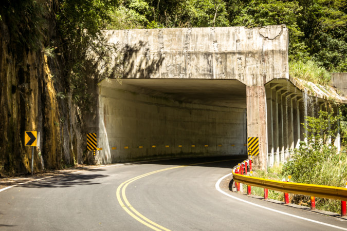 One of many tunnels in Taroko Gorge