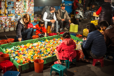 Games for kids at Jingcheng Night Market