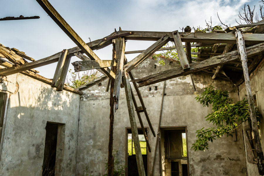 Inside an abandoned farmhouse on the outskirts of Lukang