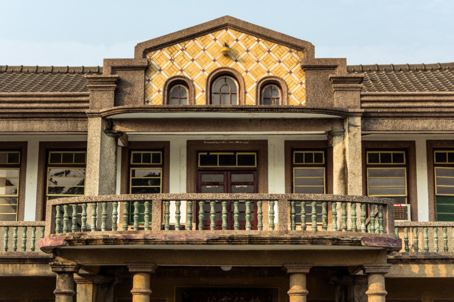 A closer look at a mansion in rural Puxin Township