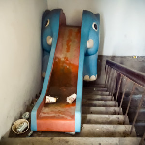 Abandoned elephant slide