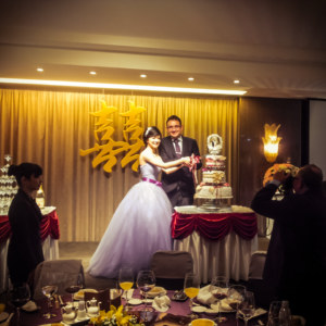 A Taiwanese wedding banquet in Kaohsiung