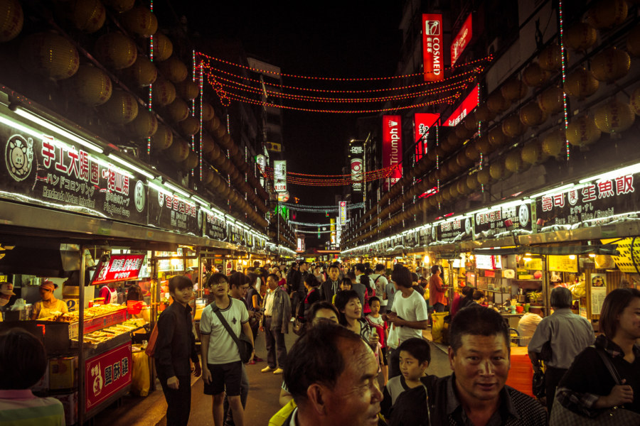 Miaokou night market 廟口夜市 at closing time