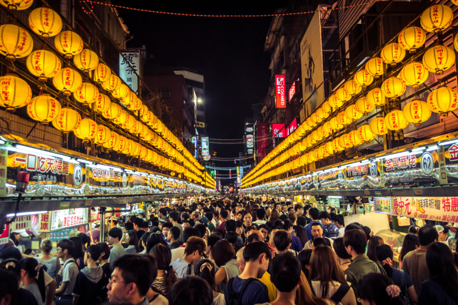 The most iconic stretch of Miaokou night market 廟口夜市