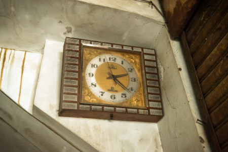 Vintage clock in Guohua Theater