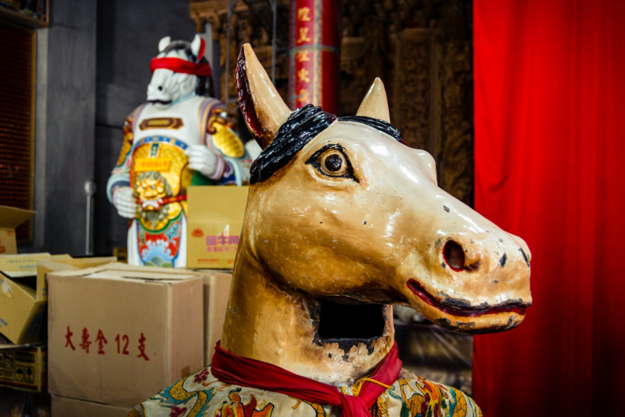 Horse-Face Puppet in the Puli City God Temple