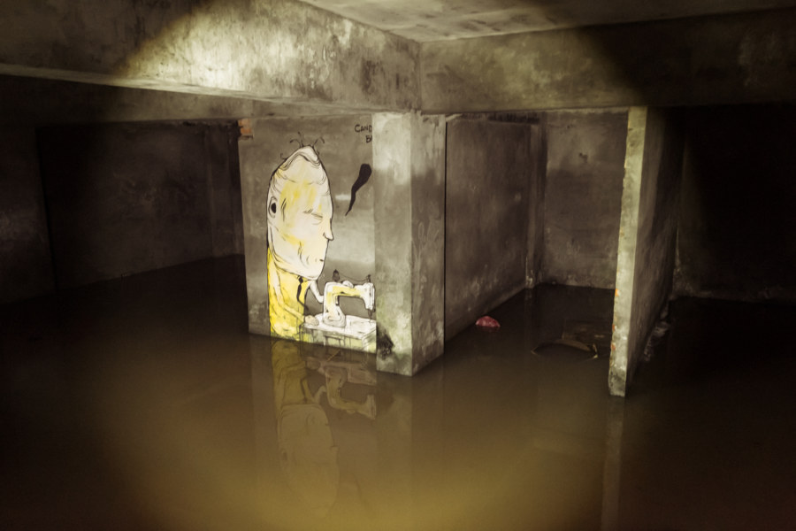 A flooded basement in Harbour City