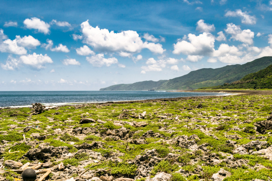 Coral beach in far eastern Pingtung
