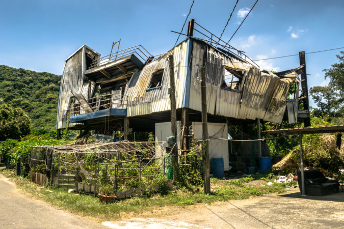Tin foil mansion on the edge of Pingtung