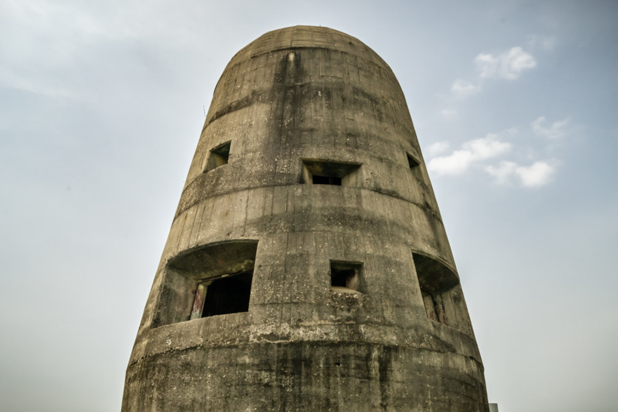 A historic Japanese colonial era gun tower in Taichung