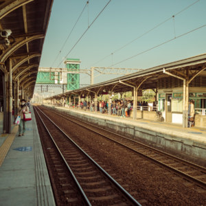 On the platform at Tainan central station