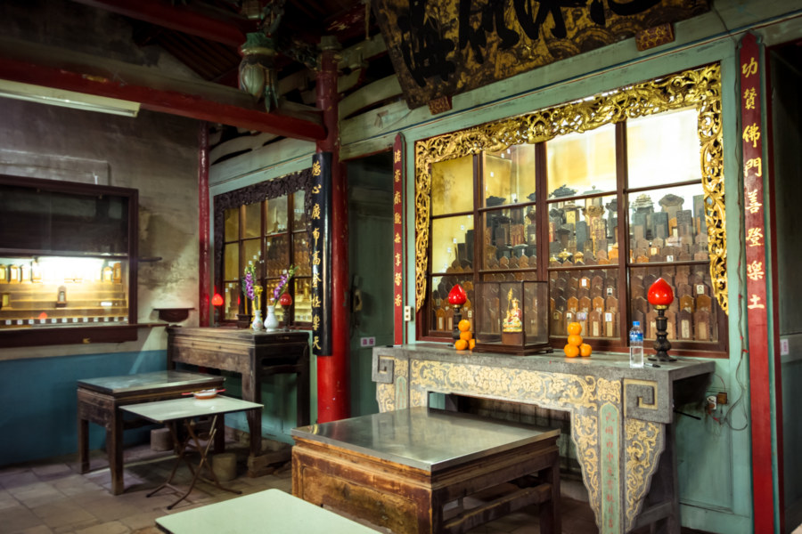 Memorial room at Fahua Temple, Tainan