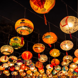 New year's lanterns at Pujidian, Tainan