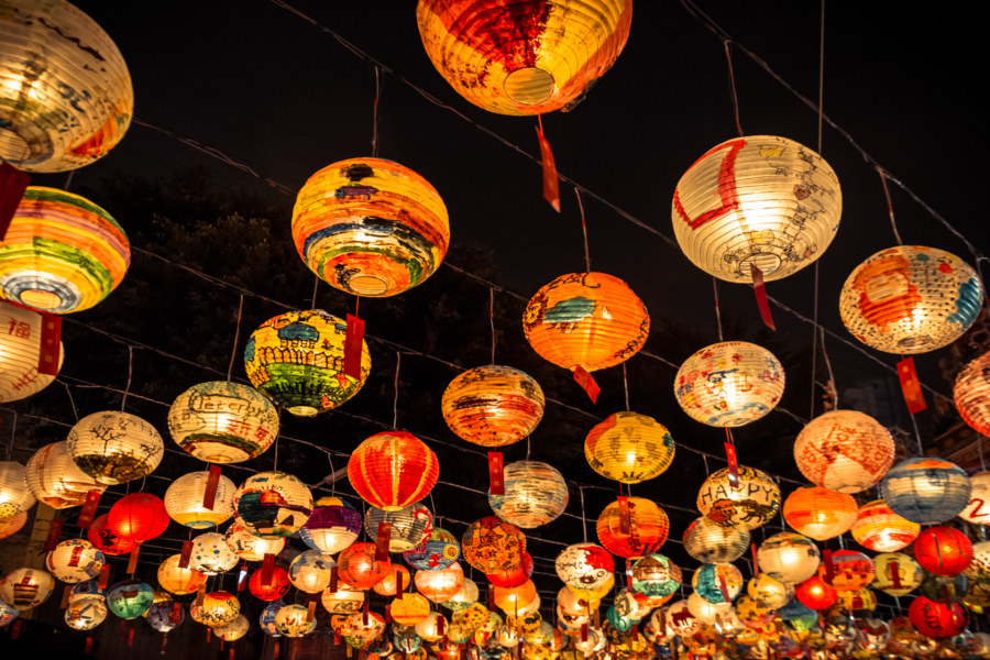 new years lanterns at pujidian tainan - Chinese New Year Lanterns