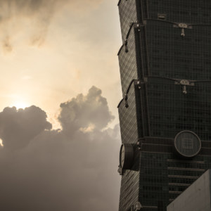 A dusky sundown at Taipei 101