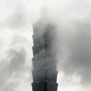 Taipei 101 in the mist