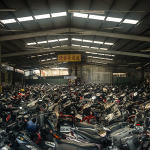 Taoyuan City scooter parking lot