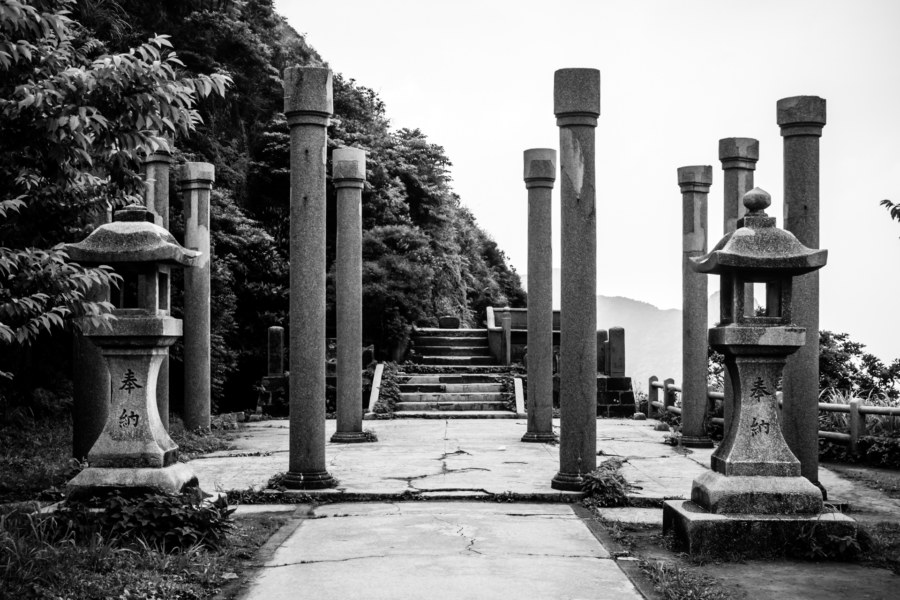 The ruins of the Ogon Shrine 黄金神社