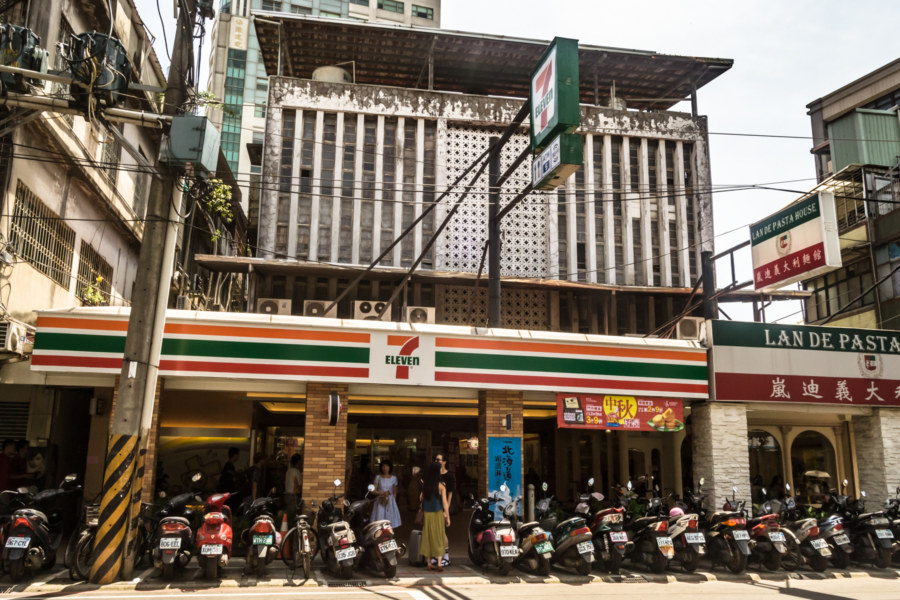 An old cinema converted into a 7-Eleven