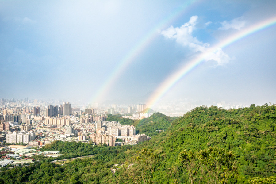 Double rainbow over Zhonghe