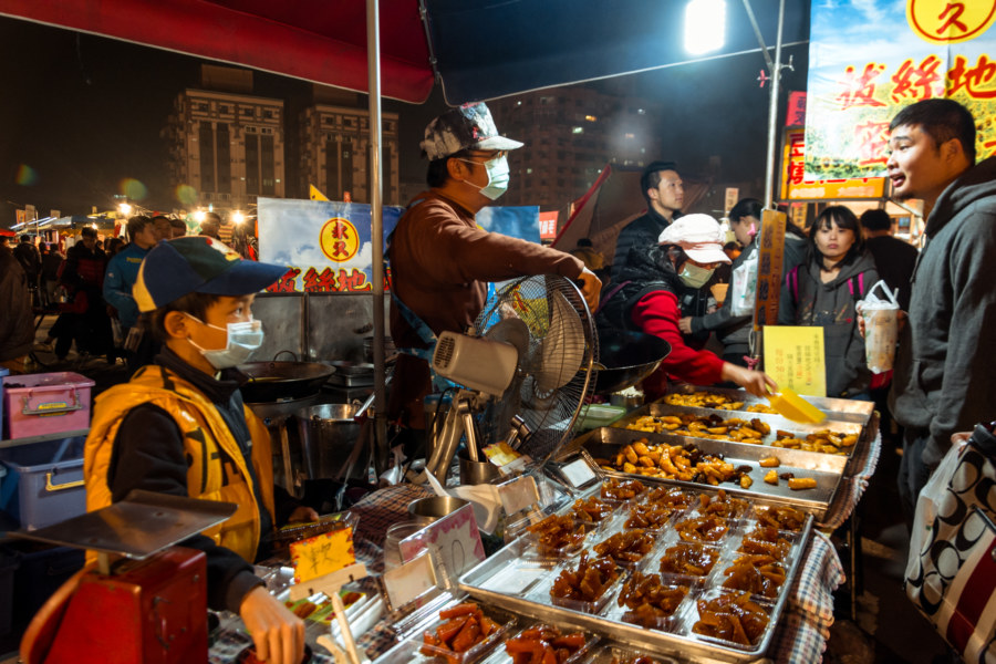 Candied sweet potato vendor at Douliu Renwen Park Night Market