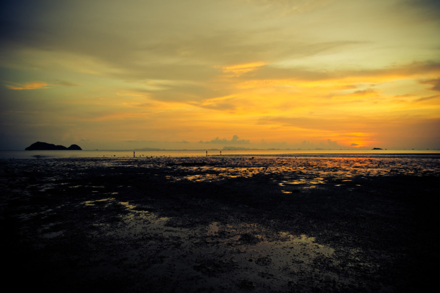 Koh Phangan sundown at low tide