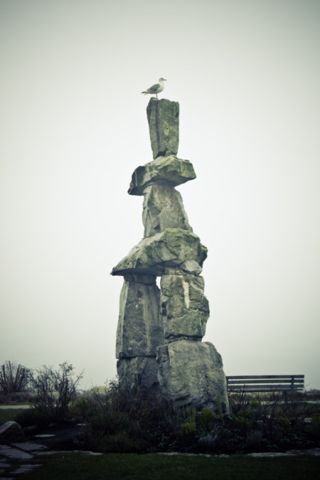 Perched On The English Bay Inukshuk