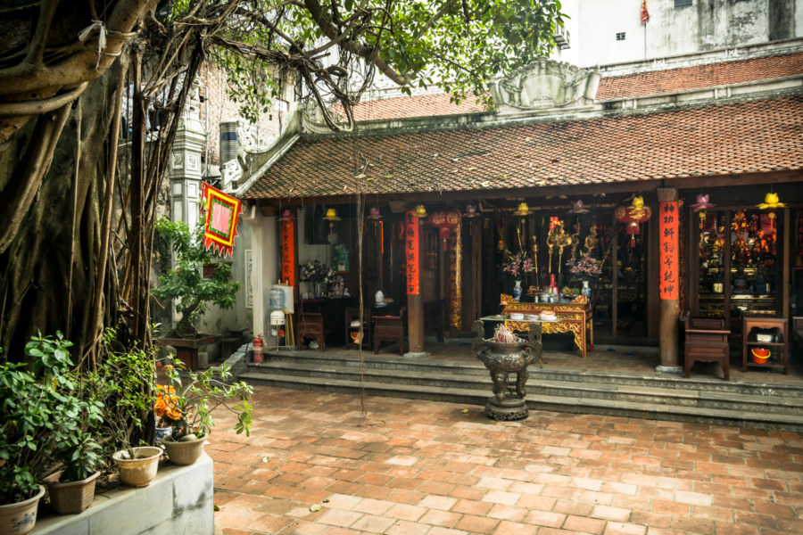 Inside the courtyard at Dinh Dong Thanh