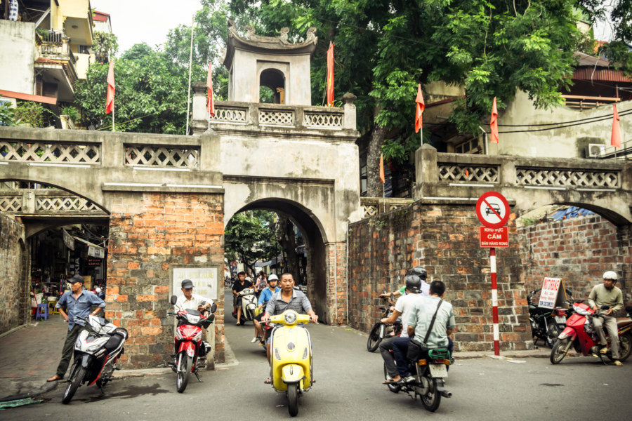 The old eastern gate to Hanoi