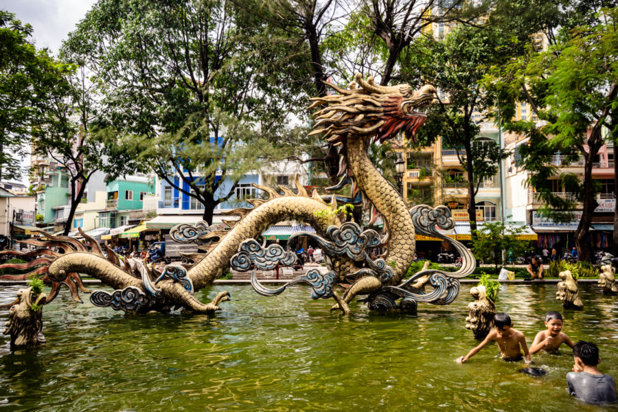 Dragon Pool at Thang Long Park, Cholon